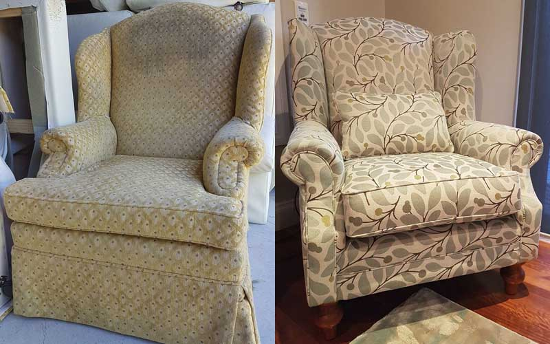 Restoration & Reupholstery - Lounge Wingback Chair