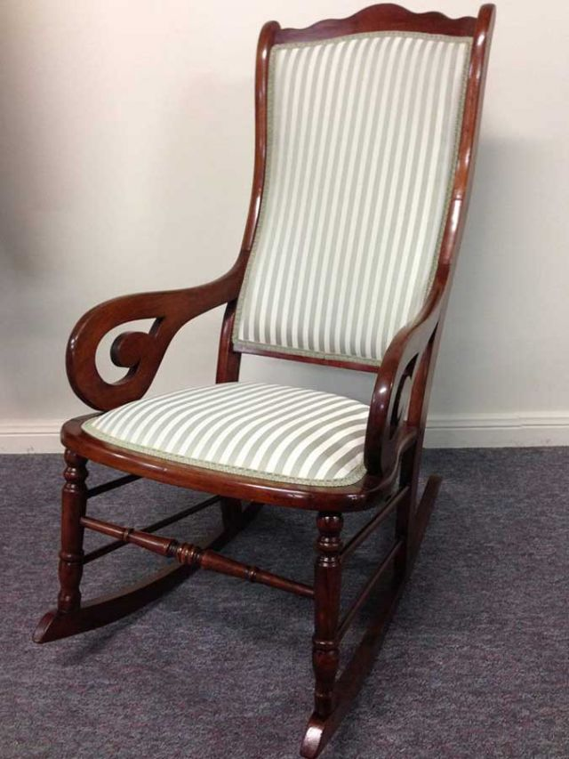 Old Rocking Chair - furniture restoration, reupholstery - Windsor, Hawkesbury, Western Sydney